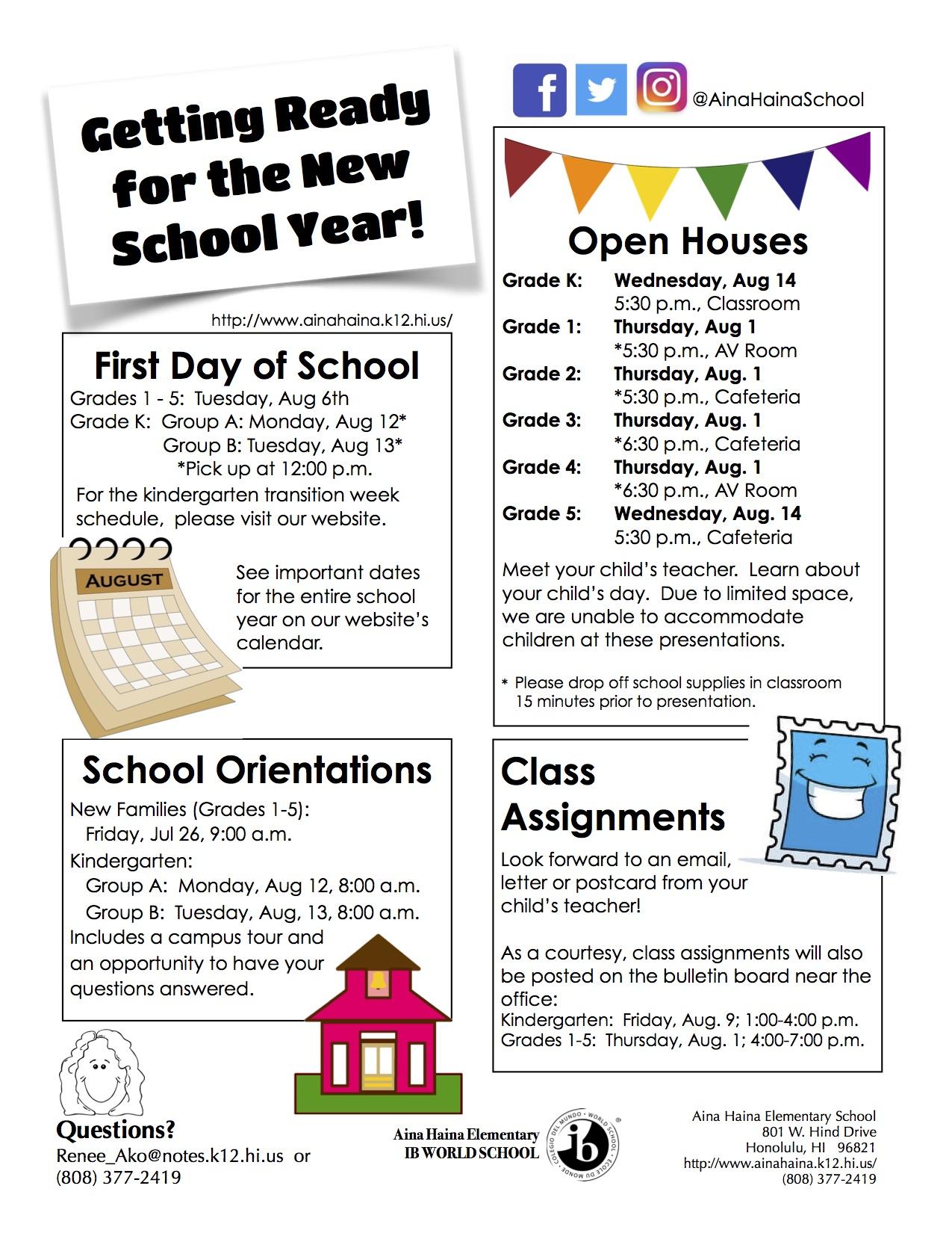 Aina Haina School News